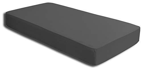 one-home 2 Spannbettlaken anthrazit 90×200 cm – 100×200 cm Microfaser Spannbetttuch Set