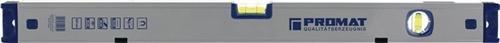 PROMAT Magnetwasserwaage L.100cm Alu. silberf.elox. m.Magnet Messgenauigkeit max.0,5mm/m