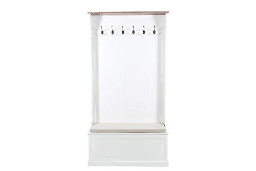 AC Design Furniture Dielenmöbel Thomas, B: 95 x T:35 x H: 180 cm, Stoff, Weiss