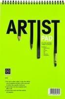 Artist's Sketch Pad Zeichenblock, doppelt spiralgebunden, A4, 140 g / m2, für Wasserfarben / Ölfarben / Gouache / Lithographie, Weiß, 20 Blätter