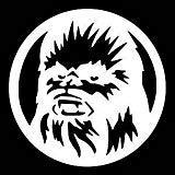 Chase Grace Studio Star Wars Inspiriert Chewbacca Sci FI Vinyl Aufkleber Sticker|White|Cars Trucks Vans SUV Laptops Wall Art|5.25