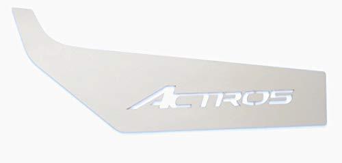 Truckdanet Edelstahl LKW-Zubehör für Actros MP4, Einsätze unter glatter Tür mit Actros Schriftzug
