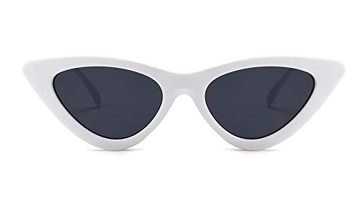LAMAMAG Sonnenbrille Vintage Shades Für Frauen Sonnenbrille Cat Eye Sonnenbrille Weißes Dreieck Cateye Brillen Gafas De Sol, 6