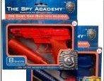 la spia accademia pressofuso pistola con silenziatore tappo rosso oblu, uno scelto a caso