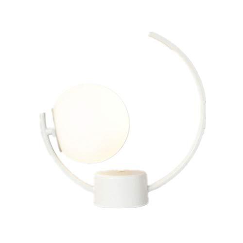 TABLELAMP Tischlampe Lampenschirm aus Glas Schreibtischlampen Einfach Tischleuchte Nachttischlampe Leselampe Klemmleuchte Bettleuchte Nachttisch Leuchte für Arbeitszimmer Wohnzimmer Schlafzimmer -