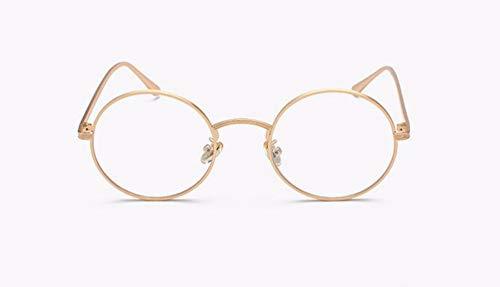 WSKPE Sonnenbrille Runder Spiegel Objektiv Sonnenbrillen Mode Frauen Männer Vintage Sonnenbrille Retro Farben Uv400 Brillen (Goldenen Rahmen Transparent Spiegel)
