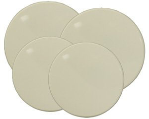 502- Almond (Bisque) Round Burner Kovers Set of 4