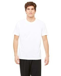 Unisex Dri-Blend Short-Sleeve T-Shirt WHITE XL (Microfiber-t-shirt Sleeve)