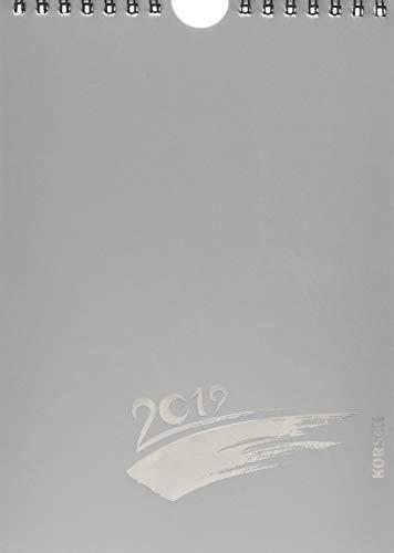 Foto-Malen-Basteln 2019 silber mit Folienprägung, Format A5: Kalender zum Selbstgestalten, aufstellbar