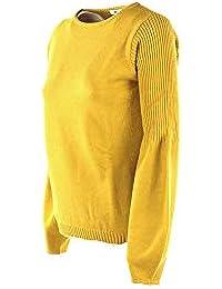 Amazon.it  maglia gialla donna - ANIS  Abbigliamento 3f077f63512
