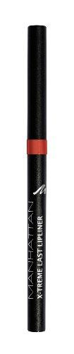 Manhattan X-Treme Last herausdrehbarer Lipliner, Intensive Farbe & definierter Halt, Farbe Coral Red 34N, 1 x 0,2g -