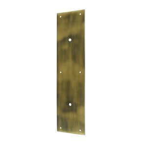15 Push Plate Finish: Antique Brass by Deltana