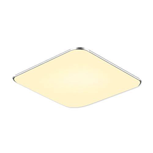 SAILUN 12W LED Deckenlampe Warmweiß Modern Deckenleuchte Schlafzimmer Küche Energie Lampe Flur Wohnzimmer Silber (12W Silber Warmweiß) (Adam Decke)