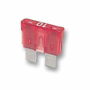 car blade fuse 10a 10 amp red auto fuses caravan x 10. Black Bedroom Furniture Sets. Home Design Ideas