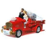 Brautpaar im Feuerwehrauto Spardose aus Poly(ca.9,5x18,5)