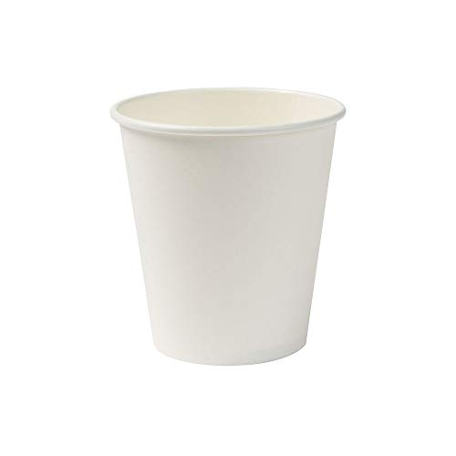 BIOZOYG Bio gobelets en Papier I jetables gobelets à Boire en Papier compostables et biodégradables I Tasse à café Blanche, Non imprimée et écologique 50 pièces 250ml 10oz
