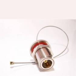 Standard Antennen-stecker (Adaptare 60326 WLAN-Antennen-Pigtail UFL IPX-Stecker/N-Einbaubuchse 20 cm (7,9 Zoll) Standard)