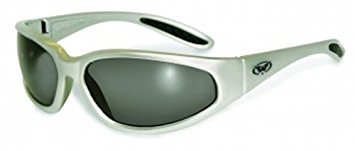 Global Vision Eyewear Hercules Series Sunglasses with Silver Frame and Smoke Safety Lenses