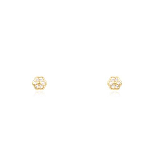 Baby blume 3.5 mm Ohrstecker - Gelbgold 9 Karat (375)