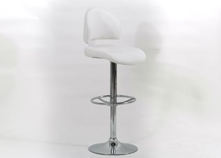 Brand New Melania Pair of Stylish Bar Stools In Faux