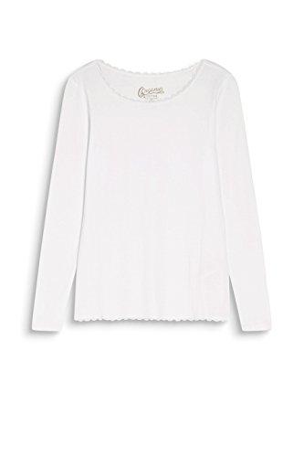 edc by Esprit, T-Shirt à Manches Longues Femme Blanc (Off White 110)