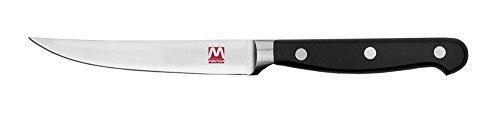 Lot de 6 couteaux à steak lame lisse série maitre cm 11 cadeau de Montana