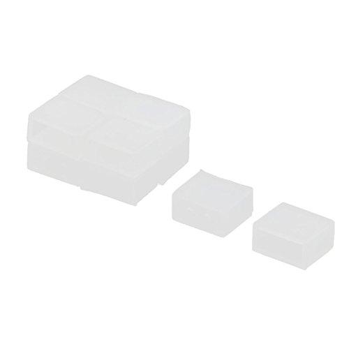 sourcingmap® 10 Stk Silikon LED Streifen Licht Kappen Abdeckung Weiß 14mm x 6mm x 10mm