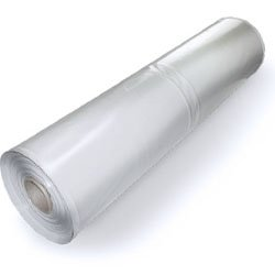 MCA, Plastic Poly Sheeting 10 Feet X 100 Feet, True 3 Mil, Transparent/White, Durable, Top Visqueen Plastic Sheeting