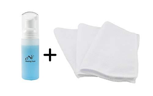 CNC Cosmetic aesthetic world Clearing Foam 190ml + 3er Set Davartis Microfasertücher