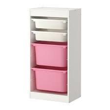 Aufbewahrung Kombination mit Boxen TROFAST weiß/pink -