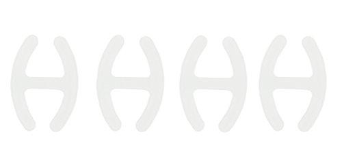 com-four® 4X BH H Clip - zum Verstecken und Verkürzen der BH-Träger in transparent (04 Stück - Transparent)