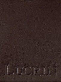 Lucrin - Dreiteiliges Portemonnaie - Braun - Glattleder Braun