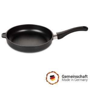 💝 Lieblings - Bratpfanne 32cm flach, Höhe 5cm, Aluminium Guss Antihaft Beschichtung, Induktion, handgegossen in Deutschland