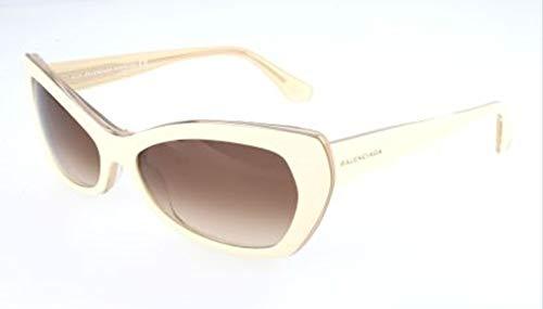 Balenciaga Damen Sunglasses Ba0006 24F-58-17-140 Sonnenbrille, Weiß, 58