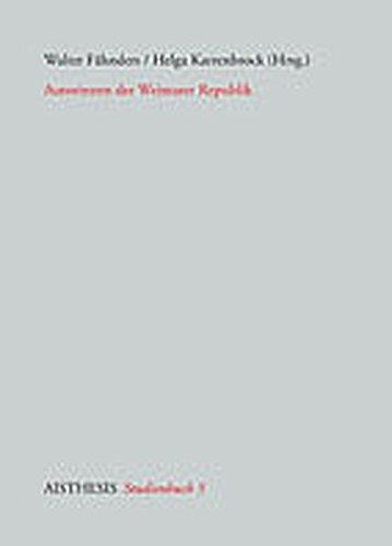 Autorinnen der Weimarer Republik (Aisthesis Studienbücher)