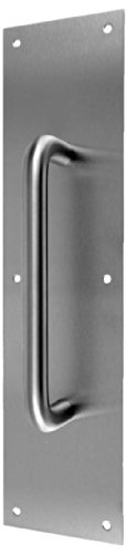 Don-Jo 7116 Aluminum Pull Plate with 3/4 Round Pull, Satin Anodized Aluminum Finish, 4 Width x 16 Height by Don-Jo