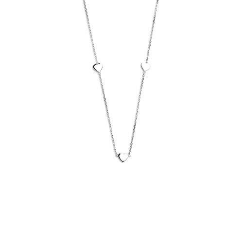 Halskette - Joker - Herzen 30-36 cm - silberfarben