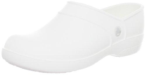 Crocs Neria Work, Mocassins - Femme - Blanc (White), 41-42 EU