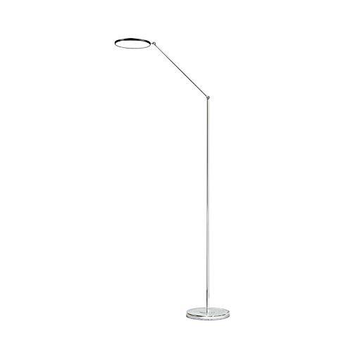 LED Augenschutz Stehleuchte Zwei Abschnitte Einstellbar Wohnzimmer Sofa Schlafzimmer Stehlampe 15W, Φ25cm H160cm