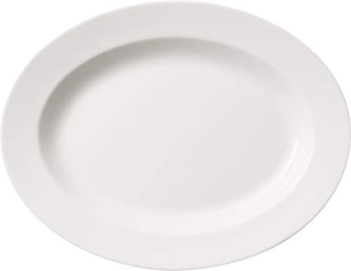 Villeroy & Boch Twist Weiß Ovale Servierplatte, Premium Porzellan