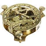 """STREET CRAFT 4"""" Brújula de reloj solar - Reloj solar de latón macizo (Reloj de sol)"""