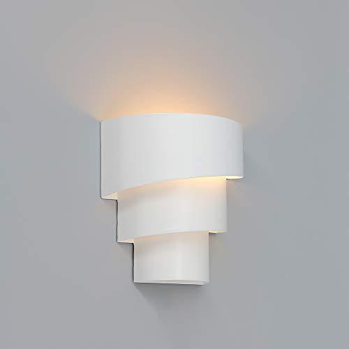 Encoft applique da parete a led lampada da parete moderna a led per iilluminazione notturna su e giù per la camera da letto, con lampadina e27.
