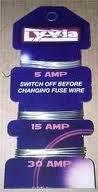Draht, 30 Amp (5/15/30Amp Sicherung Draht auf Karte)
