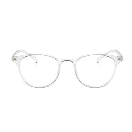 1997LM Elliptical Frame Glasses Fashion Brillengestell Transparent Jelly Glasses Weiß