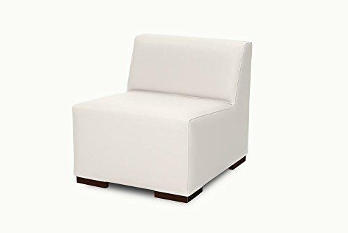 SuenosZzz-Sofa exterior modular Benahavis 1 Plaza color blanco tapizado en polipiel Silva. Chill Out jardin o recepcion.