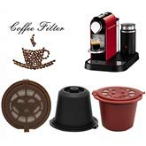 Jinxuny Kaffeekapseln Neueste Generation Wiederverwendbare nachfüllbare 3er / Packung nachfüllbare Wiederverwendbare N-Kaffeekapsel mit Löffel & Pinsel für Original Line Siccsaee-Filter