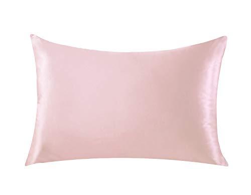 Silk Life Funda de Almohada de Seda para Cabello y Piel Facial para Evitar Arrugas con Cremallera Oculta Blanca 1 Pieza, Pattern-3, 50 * 75