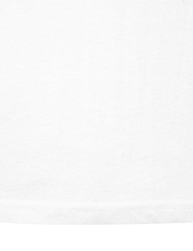 Lower East Herren T-Shirt mit Rundhalsausschnitt, 5er Pack Weiß