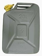 Originaler neuwertiger Benzinkanister 20 Liter der Deutschen Bundeswehr Kraftstoffkanister Reserve Kanister aus Metall 20L