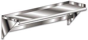 Aero Stainless Steel Deluxe Wall-mounted Shelf w/ Pot rack by aero Aero Pot Racks